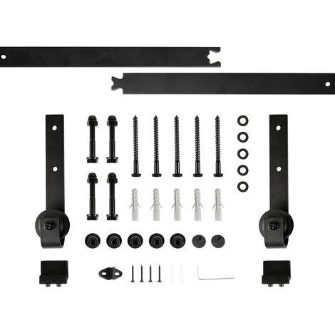 wyctin 200cm quincailleri kit de rail pour porte coulissante ensemble industriel pour porte suspendue en bois 6ft