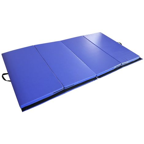 wyctin tapis de gymnastique pliable tapis de sol 240 120 5cm matelas de gym epais et pliable pour la maison bleu