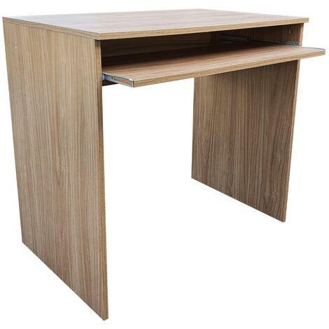 Homcom scrivania per computer da camera o ufficio con cassetto e libreria in legno. Scrittoio Porta Pc 81p52h76 Noce Puro