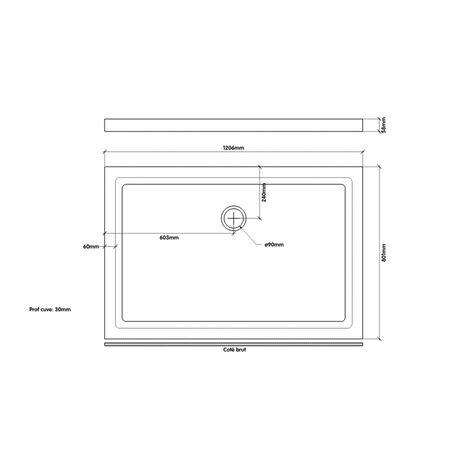 receveur de douche extra plat en gres 80x120 nf