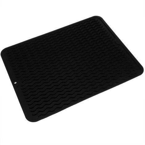 primematik tapis de sechage vaisselle en silicone 405x307 mm noir