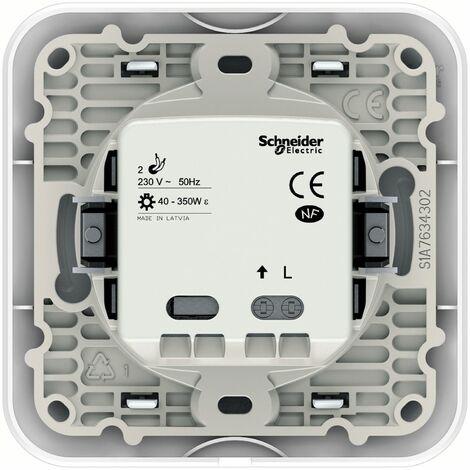 ovalis detecteur de presence 10a 3 fils n a griffes avec plaque schneider electric ref s265525
