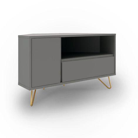 eloise meuble tv d angle design gris