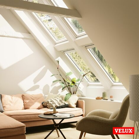 velux fenetre de toit ggl mk04 2057 78x98cm bois avec vitrage 57fr et raccord ardoise velux edl 0000