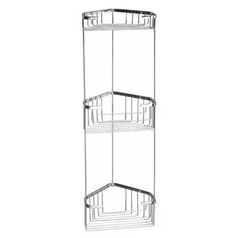 porte savon pour douche d angle a trois etages en fil d acier inoxydable