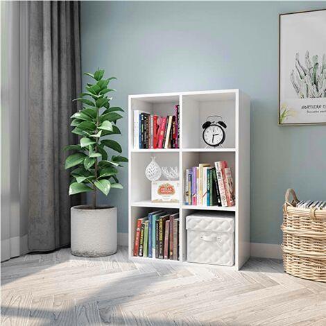 meuble de rangement bibliotheque casier a livres etagere cube de 6 casiers etagere universelle meerveil