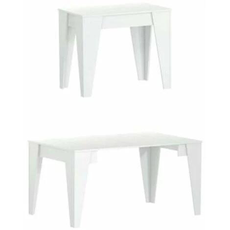 table tm extensible avec rallonges jusqu a 146 cm couleur blanche 90x53 6x74cm