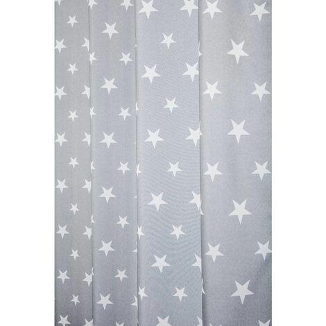 https www manomano fr p rideau tamisant 140 x 240 cm a oeillets avec imprime etoiles gris gris 12413435