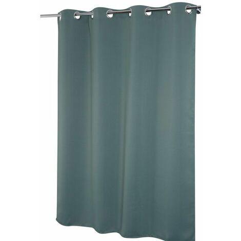 rideau occultant 135 x 160 cm a oeillets uni vert vert vert