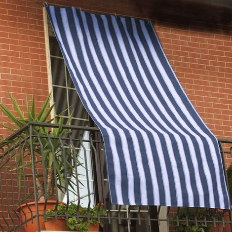 Tenda da sole per esterno con anelli e ganci misura 140x300cm pronta all'uso made in italy. Tenda Da Sole 168141 Con Anelli Rinforzati Resistente Alle Intemperie 200x290 Cm Blu