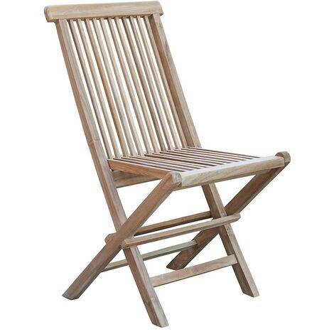 chaise de jardin pliante en teck marron