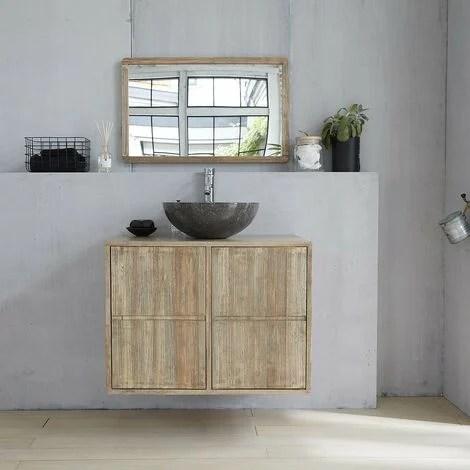 meuble de salle de bain en bois d hevea