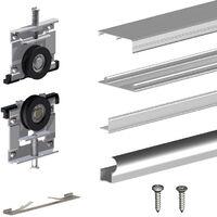 systeme coulissant slid up 210 pour portes de placard 16 mm 70kg