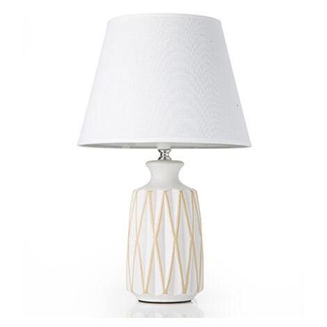 lampade da parete ferro battuto. Lampada Da Tavolo Lume Comodino Ceramica Tessuto Grigio Design Moderno Abatjour