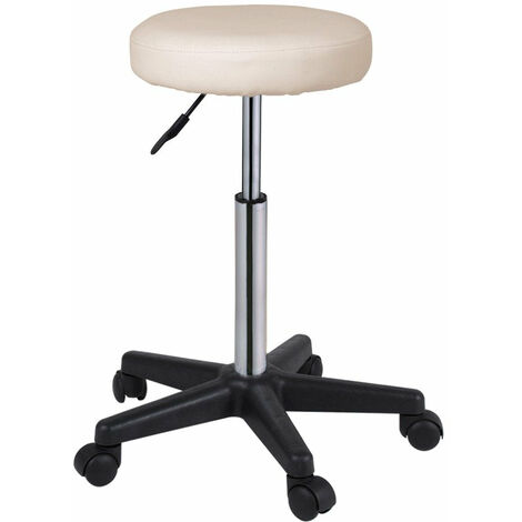 lot de 2 tabourets chaise reglable en hauteur confortable rembourre hauteur reglable diametre assise 35 cm or