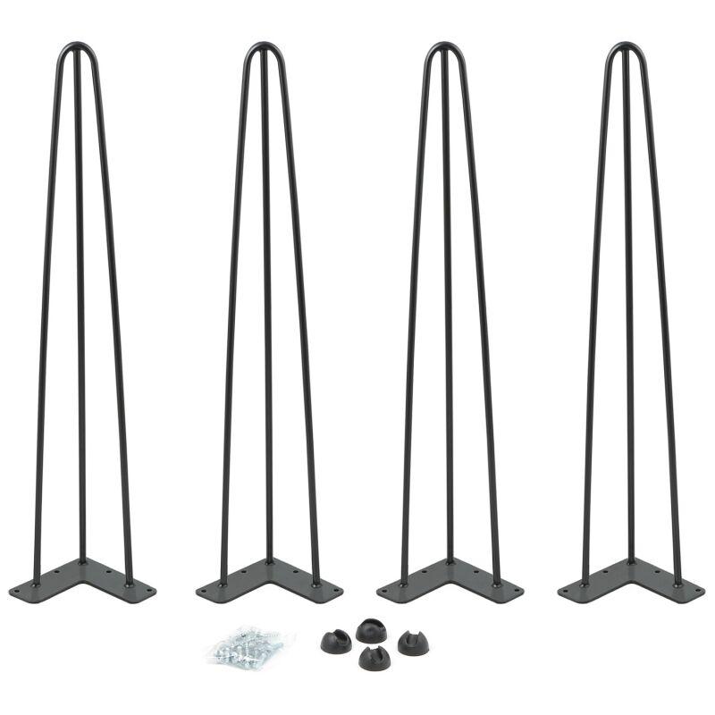lot de 4 pieds epingle 71 cm pour table design industriel