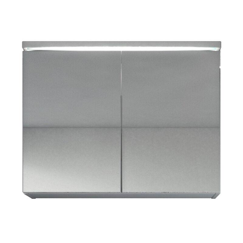 Meuble A Miroir 80x60 Cm Blanc Miroir Armoire Miroir Salle De Bains Verre Armoire De Rangement Spmrpas80wi