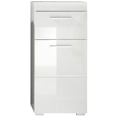 Meuble Bas Blanc Brillant Pour Salle De Bain 4791001189851