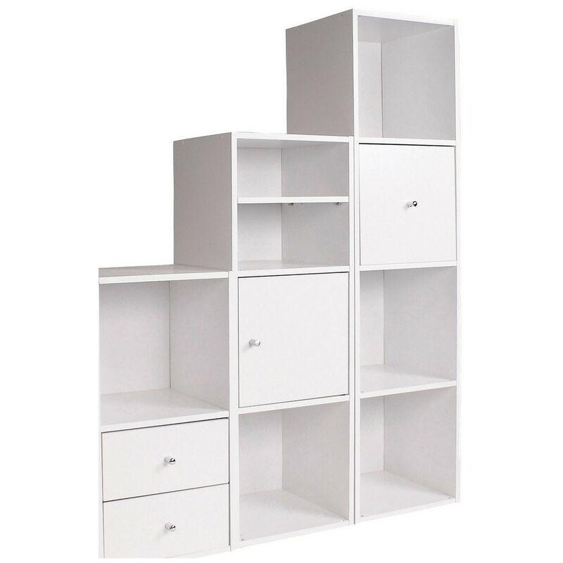 meuble 4 cases avec fond 32 x 30 x 125 cm label fsc casame casame blanc