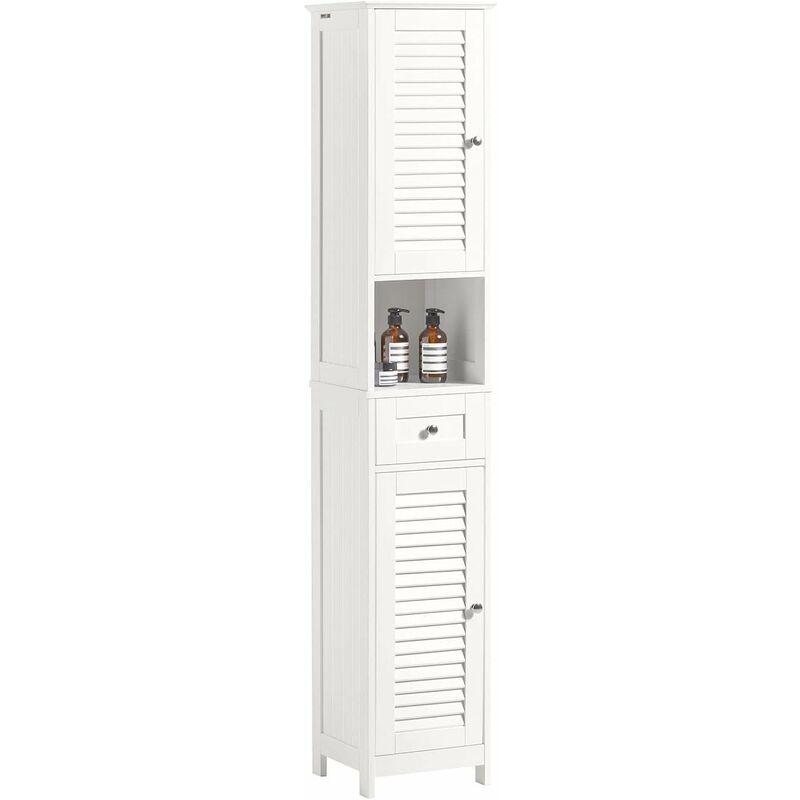 meuble colonne de salle de bain armoire haute meuble rangement frg236 w sobuy
