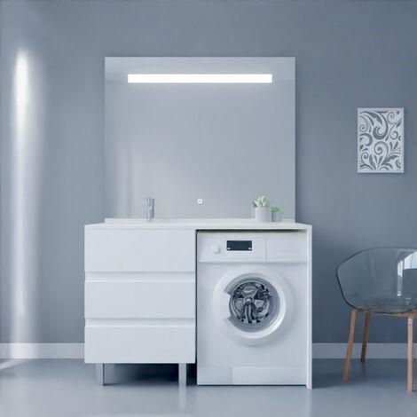 meuble salle de bain avec lave linge
