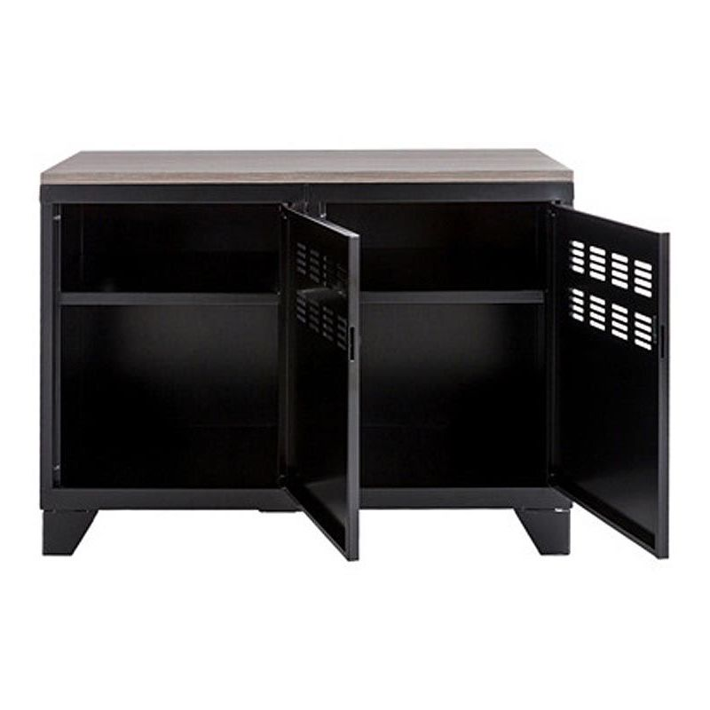 meuble rangement metallique 2 portes