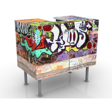 Meuble Sous Vasque Graffiti 60x55x35cm Dimension 55cm X 60cm 0 0 619075