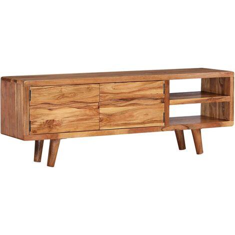meuble tv acacia a prix mini
