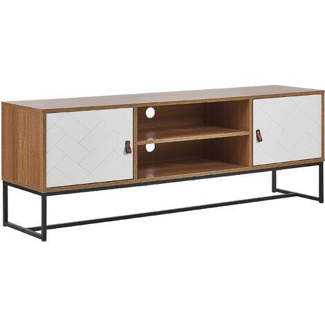 meuble tv bois blanc a prix mini