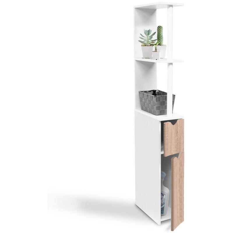 meuble wc etagere willy bois gain de place pour toilette 2 portes hetre