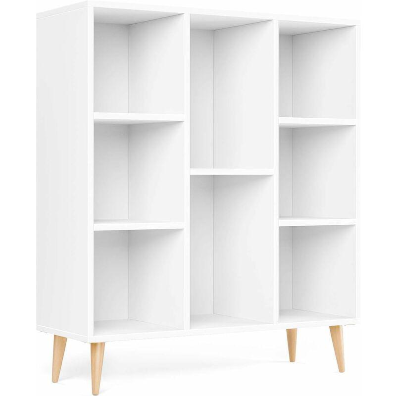 meubles de rangement blanc meubles scandinave en bois bibliotheque etagere homfa rangement avec 8 casiers armoire rangement pour salon bureau