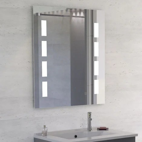 Miroir Anti Buee Prestige 70x80 Cm Eclairage Integre A Led Et Interrupteur Sensitif S02prestige70l