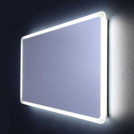 Miroir De Salle De Bain Eclaire Avec Led Angles Arrondis 60 X 120 Cm Dallas 03010641000013