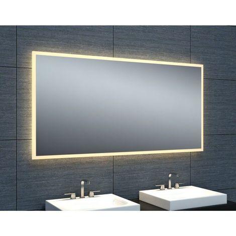 Miroir De Salle De Bains Avec Eclairage Led Modele Epure 120 60 Cm X 120 Cm Hxl 3283425572889