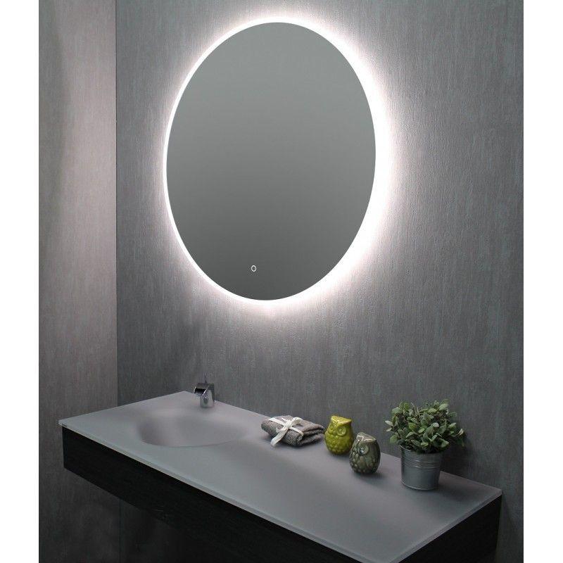 Miroir De Salle De Bains Avec Led Rond 90 Cm 3283425540635