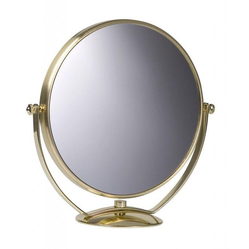 Miroir Grossissant A Poser X7 Dore Diametre 20 Cm Dore 3283420549022