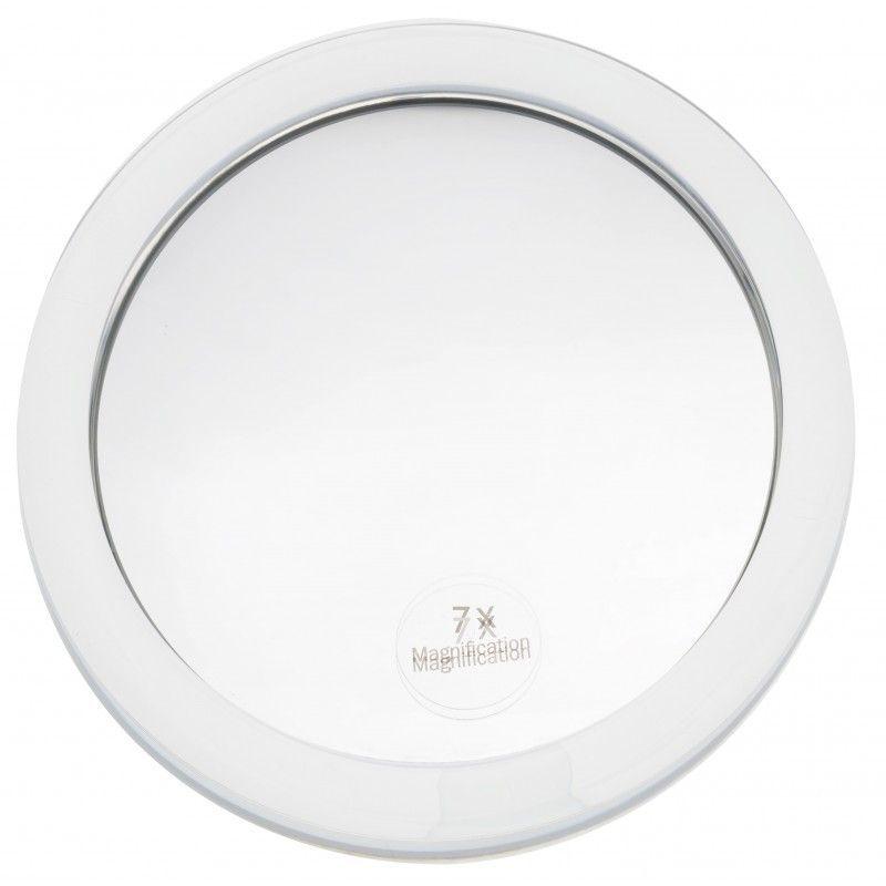 Miroir Grossissant A Ventouse X7 Blanc Diametre 15 Cm Blanc 3283421057533