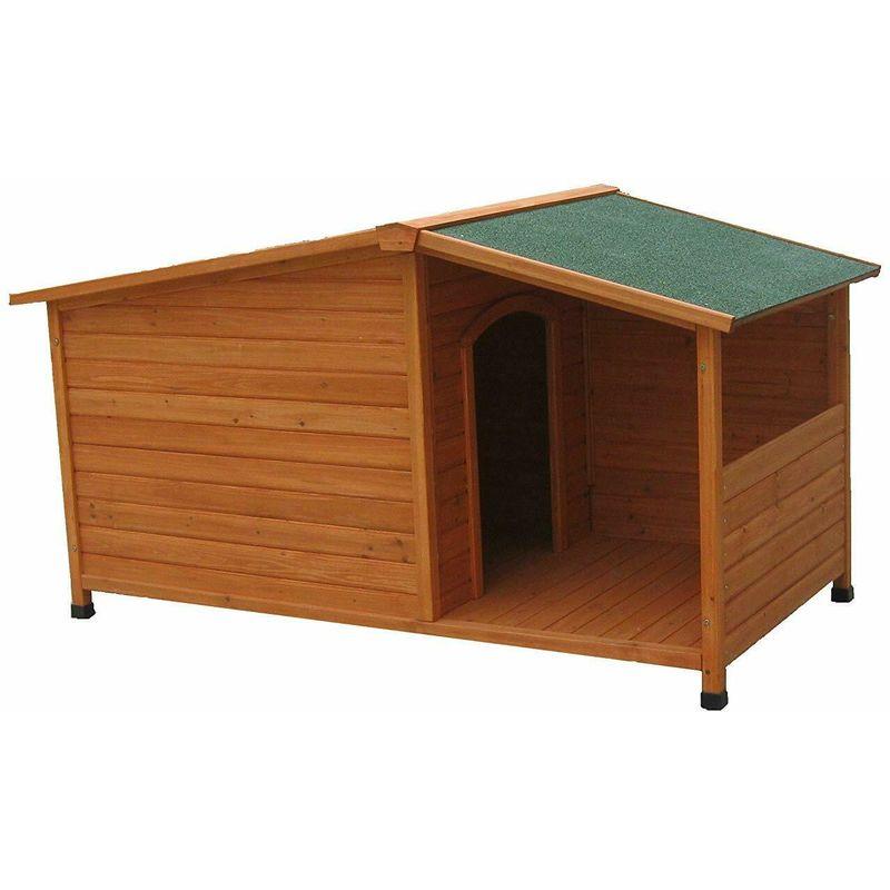 niche pour chien avec terrasse