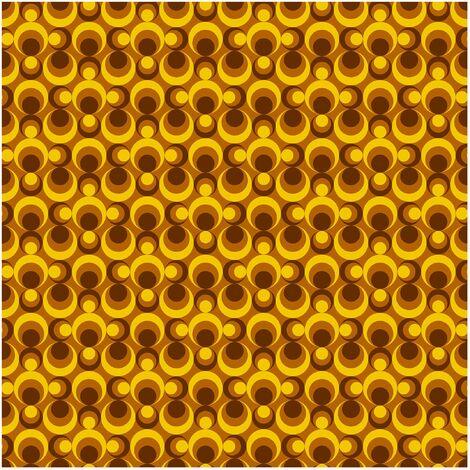 papier peint intisse retro wallpaper 70s circle wallpaper yellow brown mural carre