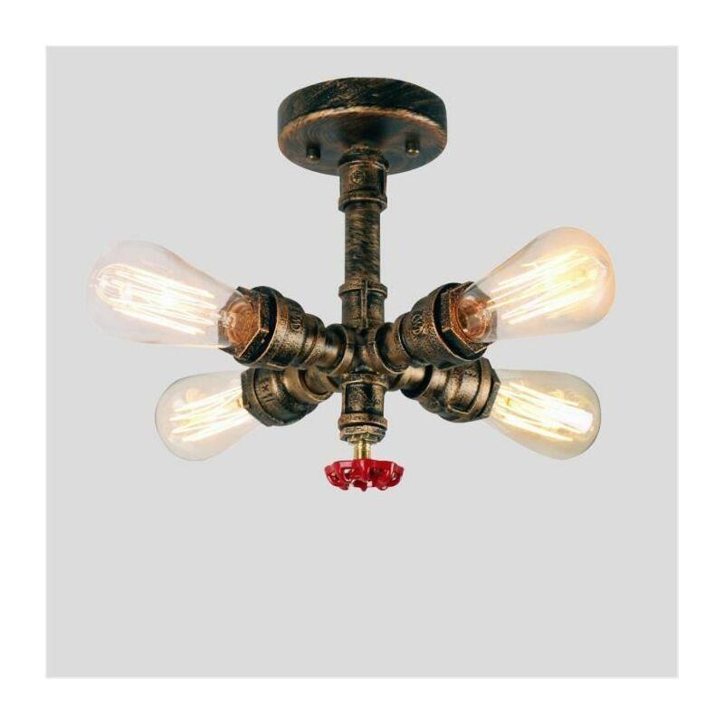 plafonnier vintage industrielle lampe de plafond tub tuyau en metal lampe suspension pour salon chambre cuisine bar