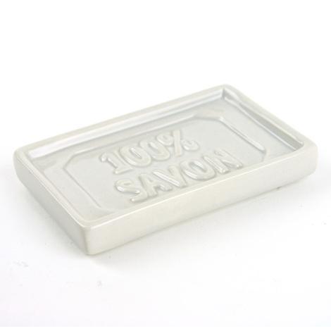 Porte Savon 100 Savon Ceramique Gris 504722