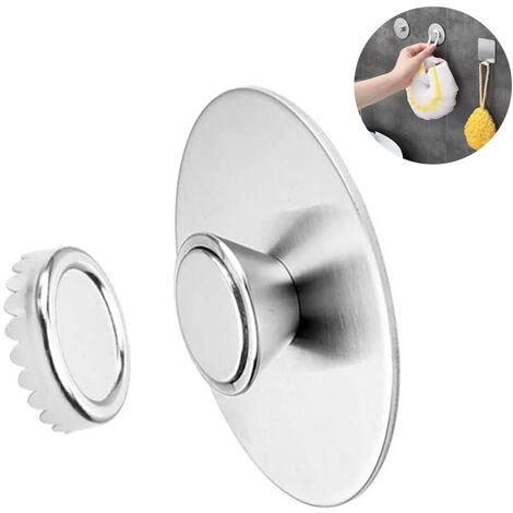 porte savon magnetique mural en acier inoxydable distributeur de savon suspendu avec aimant pour lavabo de douche