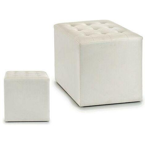 pouf blanc a prix mini
