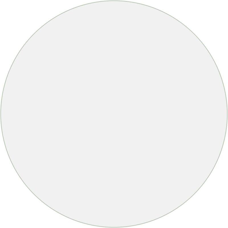 protecteur de table transparent o 120 cm 2 mm pvc