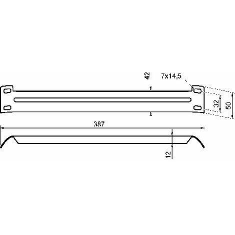 raidisseur d angle pour lit decor zingue longueur 387 mm ludmann