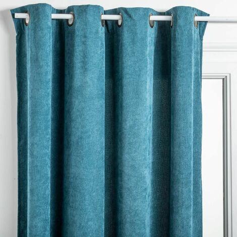 rideau bleu canard a prix mini