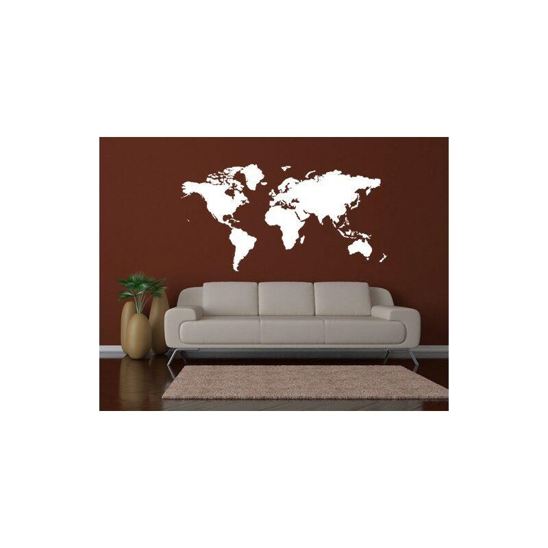 sticker mural no 191 world map