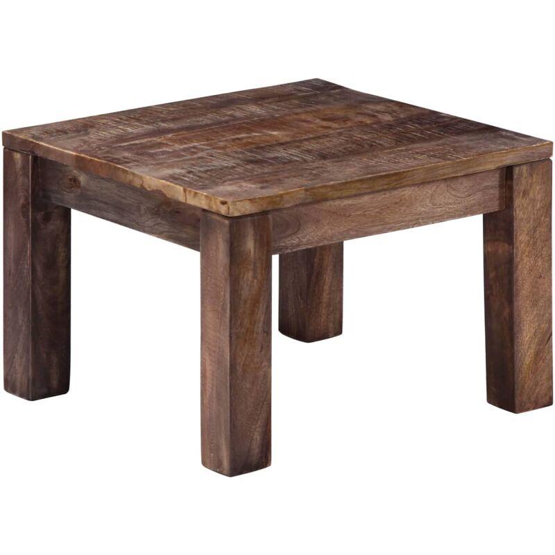 table basse 50 x 50 x 35 cm bois de manguier massif