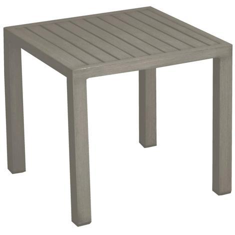table basse de jardin lou en aluminium couleur taupe proloisirs