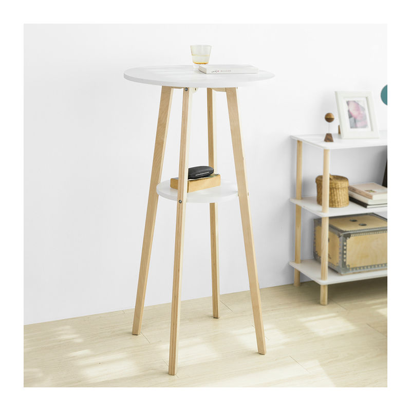 table de bar table haute de bar mange debout cuisine table 2 plateaux ronds sobuy fwt58 wn